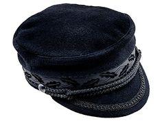 Sterkowski Men s Mariner Style Breton Fiddler Cap US 6 7 8 Black     0c4a37da31b7