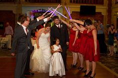 Lightsaber arch for reception introduction