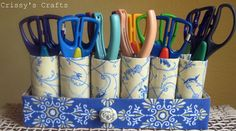 5 Brilliant Ways Toilet Paper Rolls Can Help Organize Your House, for makeup pencils and brushes yay!