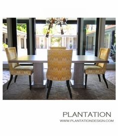 """ontecito Dining Table  Item Number: CUSTOM Dimensions: W: 84"""" • D: 42"""" • H: 30"""""""
