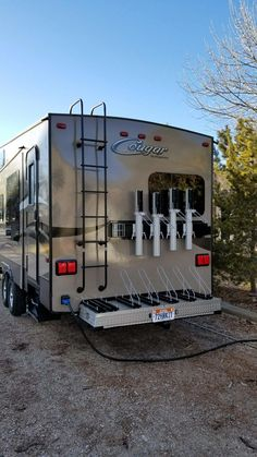 """Outstanding """"travel trailer remodel"""" information is offered on our site. Check it out and you wont be sorry you did. Kayak Trailer, Travel Trailer Camping, Travel Trailer Remodel, Truck Camping, Camping Glamping, Camping Hacks, Outdoor Camping, Rv Hacks, Camping Stuff"""