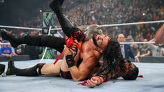 """Roman Reigns vs. """"The Demon"""" Finn Bálor -- Universal Championship Extreme Rules Match: photos Finn Balor, Roman Reigns Wrestling, Wwe Raw And Smackdown, Wwe Pay Per View, Professional Wrestling, Superstar, Champion"""