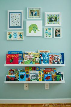 Little Bits of Home: Playroom Progess: Book Ledges