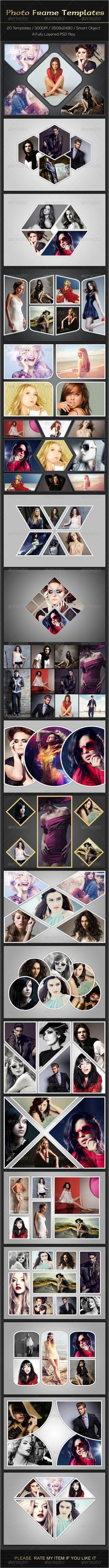 Photo Frame Templates PSD #design Download: http://graphicriver.net/item/photo-frame-templates/7636870?ref=ksioks