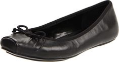 Jessica Simpson Women's Leve Ballet Flat,Black Western,9 M. Made in USA or Imported.