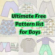 Tons of tree patterns for boys, the Ultimate free boy pattern list #sewboy #freepatternsforboys