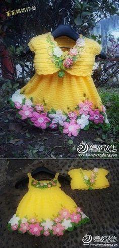 Charming baby dress * Spring * + crochet kits with bolero