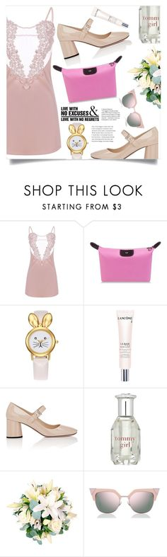 """Heartless"" by violet-peach ❤ liked on Polyvore featuring Lancôme, Prada, Tommy Hilfiger, Fendi and WALL"