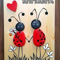Siparis #pano #taşboyama #ugurbocekleri #ask #şans #stonepainting #rockpainting #deniz #doğa #ahsap #agac #tasarim #artwork #artgallery #instagood #homedekor #evdekorasyonu #tarz #instaart #artistoninstagram #creative #craft #içmimari #hediye #cafe