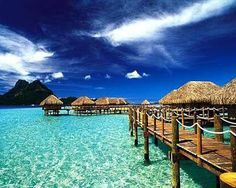 #CheapCaribbean #CCBucketList ....   This is at the TOP of my bucket list -- a 2-week stay at one of the huts over water in Fiji.  Simply amazing.