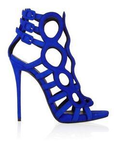 GIUSEPPE ZANOTTI Coline Cutout Suede Sandals $1395 via StyleList