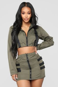 stylish clothes,newest fashion,hot new outfits,shop fashion Dope Outfits, Cute Casual Outfits, Fashion Outfits, Womens Fashion, Olive Green Pants Outfit, Green Fashion, Ideias Fashion, Dresses, Stylish Clothes