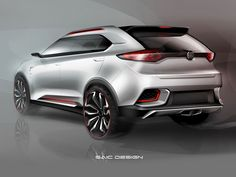MG Urban SUV Concept Design Sketch