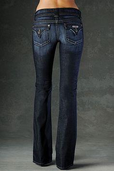 New favorite jeans. Hudson Signature Bootcut Petite in Elm Dark Blue #Page6Boutique #shoppage6