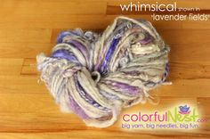 Funky Chunky Thick-n-Thin Handspun Yarn by Colorful Nest $32.50 - save 10% NOW with code PIN10 https://www.etsy.com/listing/72531486/funky-chunky-handspun-yarn-by-colorful  #knitting #yarn