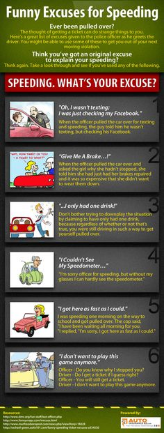 INFOGRAPHIC: MOST POPULAR TICKET EXCUSES GIVEN TO COPS