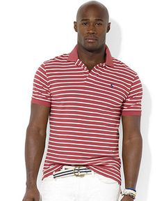 Polo Ralph Lauren Big and Tall Shirt, Classic-Fit Short-Sleeved Striped Mesh