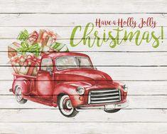 Free Printable Farmhouse Christmas Truck Wall Art