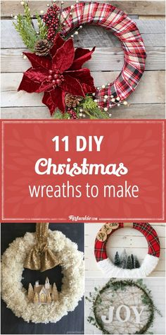Party Games Holidays Paper Crafts DIY Room Decor and Gifts! 11 DIY Christmas Wreaths to Make via Christmas Wreaths To Make, Christmas Fun, Christmas Decorations, Christmas Ornaments, Dough Ornaments, Christmas Wishes, Mason Jar Crafts, Mason Jar Diy, Homemade Crafts