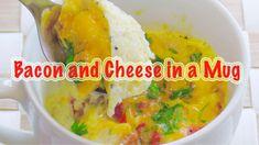 How to make bacon and cheese in a mug #mugrecipes #microwaverecipes