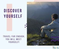 """""""Travel Far Enough, You Will Meet Yourself."""" #DiscoverYourself  #FollowUs to stay updated (^_^) #travel #startups #quote #motivation #solo #unleashed #discover #findyourself #search #business #onlinetravelagency #nature #travellers #tourism #vacations #trips #tourists #photography #MovingForward #life #dontstopbelieving #ilovetravel #adventures #subscribe #comingsoon"""