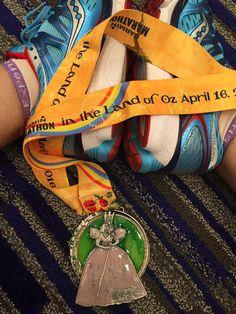 Kansas Garmin Marathon & Half marathon in the Land of Oz 2016 medal - 2016…                                                                                                                                                                                 More