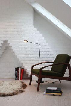 chimney breast in loft conversion dormer Attic Loft, Loft Room, Bedroom Loft, Small Bedrooms, Bedroom Decor, Loft Studio, Loft Conversion Stairs, Loft Conversions, Attic Conversion