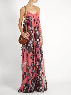 Floral fil coupé silk crepe de Chine dress   Chloé   MATCHESFASHION.COM