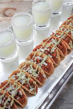 Mini tacos and margaritas - perfect for a girls' night in!