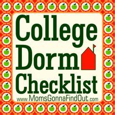 The Ultimate College Dorm Checklist!