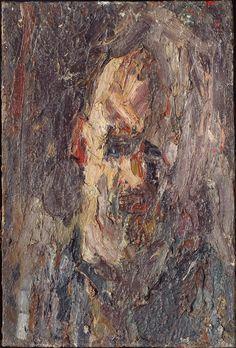 Eugène Leroy (1910 - 2000). Autoportrait, recherche de volume, 1953, Huile sur toile, 81,4 x 54,7 cm | Centre Pompidou