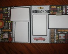 firefighter premade scrapbook layout - Google Search