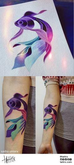 Sasha Unisex Tattoo | Moscow Russia ... LOVE LOVE LOVE her style!!!!