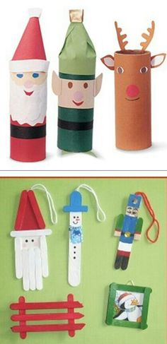 Toliet tube and Popsicle stick christmas projects