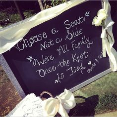 Guests at Charlie & Gabi's #HomeandFamily wedding were greeted with this sweet welcome!..