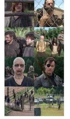 "Walking Dead All Out War Poster  24/"" x 36/""   Negan Rick Michonne Daryl  52489"