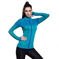Running Jacket For Women Yoga Zipper Long Sleeve Mandarin Collar Sport Coat Fitness Ladies Sports Outdoor Sports Clothing -- AliExpress Affiliate's buyable pin. View the item in details on www.aliexpress.com by clicking the image