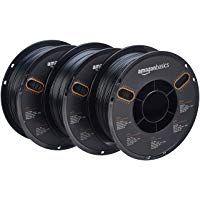 Efficient Amazonbasics Premium Pla 3d Printer Filament 1.75mm 1 Kg Spool Special Summer Sale Black