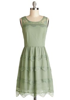 Eucalyptus Grove Dress. This gorgeous green dress is refreshing choice for a festive party look! #green #modcloth