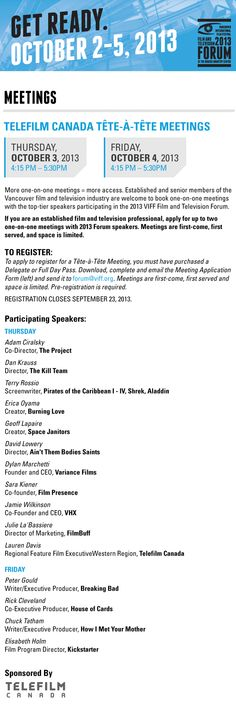 Forum Meetings Telefilm International Film Festival, Vancouver