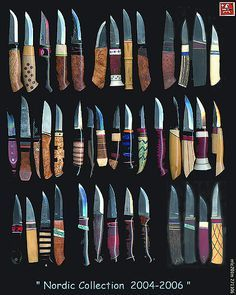 Nordic-collection of knives Cool Knives, Knives And Tools, Knives And Swords, Bushcraft Knives, Knife Handles, Handmade Knives, Carving Tools, Custom Knives, Knife Making