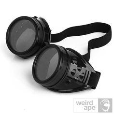 Steampunk Cyber Goggles - #Black Frame Black Lens