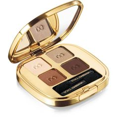 Dolce & Gabbana Makeup Smooth Eyeshadow Quad Desert ($61) ❤ liked on Polyvore featuring beauty products, makeup, eye makeup, eyeshadow and dolce&gabbana