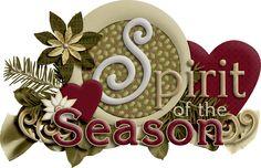 CHRISTMAS, SPIRIT OF THE SEASON CLIP ART
