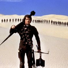 Dune - A beautifully stylized philosophical sci-fi epic starring Kyle McLaughlin's perfect hair. He never wears the stringy outfit that comes up on Google Image searches, but!- catsuit.
