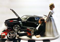 """Wedding Cake Topper This wedding cake topper is perfect for the car lover in your life.. All wedding cake toppers can be customized for your special day. Examples : bride hair color, groom hair color, skin color, etc. Even the car. Please allow 2 extra business days for special requests. Measurements are as follows: Base 3"""" x 5.5"""" Everything that is shown in the picture is included with the purchase of this cake topper. TERMS OF SALE: Returns are welcome if the item was damaged due to…"""