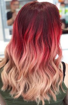Auburn to ash brown ombre