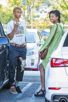 Jaden and Willow Smith out in Calabasas