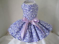 Dog Dress XS Lavender Swirlies by Nina's by NinasCoutureCloset, $35.00