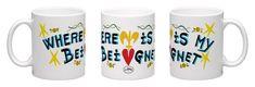Beignet Coffee Mug by Simon of New Orleans Beignets, Custom Art, New Orleans, Coffee Mugs, Art Pieces, Tableware, Dinnerware, Coffee Cups, Artworks
